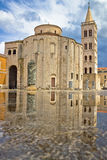 Zadar cathedral landmark with water reflection Stock Images