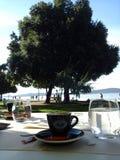 Zadar, Croácia, Riva, café do apettit do Bon, restaurante Fotografia de Stock Royalty Free