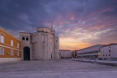 Zadar croatia arkivfoton