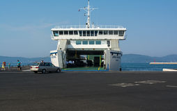 ZADAR,CROATIA - AUGUST 12, 2015: Docked Jadrolinija ferry in Zad Stock Photos