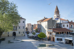 Zadar , Croatia. Zadar - city where hitchcock was during the summer time -  Croatia Royalty Free Stock Photos