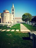 Zadar, Croatia. Zadar, Frum, Donat ,  the beauty of the  Antique St. Donats Church beautiful ancient church in Zadar crntru Royalty Free Stock Photos