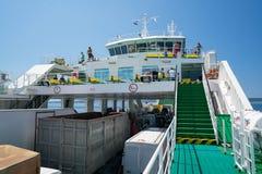 Zadar, Croatia - July 20, 2016: on the ferry - the way to Brbinj Stock Photos