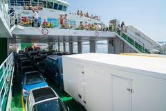 Zadar, Croatia - July 20, 2016: on the ferry - the way to Brbinj Royalty Free Stock Photo