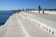Zadar sea organ Stock Photo