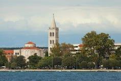 Zadar, Croatia - panorama from the sea with Church of St. Donatu Stock Photography