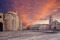 Zadar. Croatia. St.Donatus church on the Roma Forum in Zadar. Croatia Stock Image