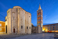 Zadar. Croatia. St.Donatus church on the Roma Forum in Zadar. Croatia stock photography