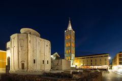 Zadar. Croatia. St.Donatus church on the Roman Forum in Zadar. Croatia Stock Images
