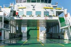 Zadar, Croatie - 20 juillet 2016 : Ferry-boat de Jadrolinija dans le port de Gazenica Image libre de droits