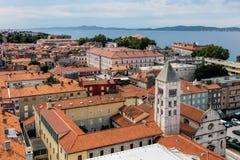 Zadar, die älteste ununterbrochen bewohnte kroatische Stadt stockbilder
