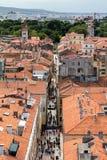 Zadar, die älteste ununterbrochen bewohnte kroatische Stadt lizenzfreies stockfoto