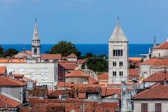 Zadar, die älteste ununterbrochen bewohnte kroatische Stadt lizenzfreie stockfotos