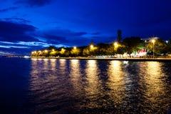 Zadar entro la notte Fotografia Stock