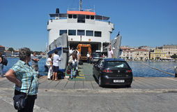 Zadar ferry stock photography