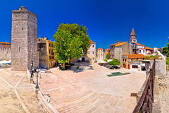 Zadar Five wells square and historic architecture panoramic view Royalty Free Stock Photography