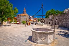 Zadar Five wells square and historic architecture view Royalty Free Stock Photography