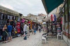 Zadar. Flea market. ZADAR, CROATIA - MAY 21, 2013: People in traditional flea market, in Zadar, Croatia Royalty Free Stock Image