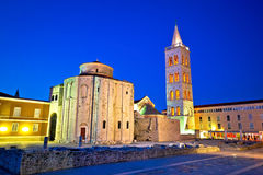Zadar historic square and church Royalty Free Stock Photos