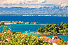 Zadar islands archipelago and Velebit mountain view Stock Images