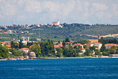 Zadar Kolovare beach and coast view Royalty Free Stock Images