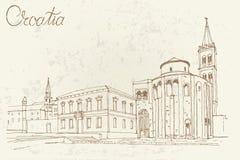 Zadar, Kroatien lizenzfreie abbildung