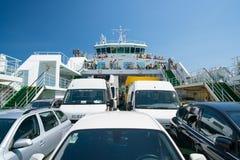 Zadar, Kroatien - 20. Juli 2016: auf der Fähre - die Weise zu Brbinj Lizenzfreie Stockfotografie