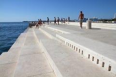 Zadar Seeorgan stockfoto