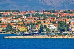Zadar nabrzeża organów denny widok Fotografia Royalty Free