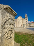 Zadar old roman square artefacts Royalty Free Stock Photography