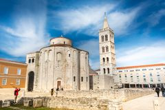 Donat and Forum, Zadar royalty free stock photography