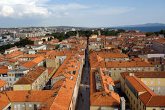Zadar Panorama Stockbild