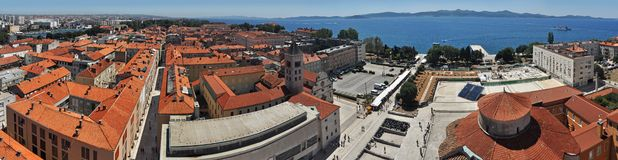 Zadar panorama Stock Photos