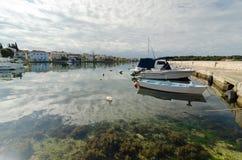 Zadar, the Port. Marina in Zadar, Adriatic sea, Croatia Royalty Free Stock Photo