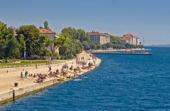 Zadar Riva strandsikt i Dalmatia Arkivfoto