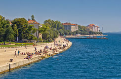 Zadar Riva waterfront view in Dalmatia Stock Photo