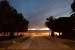 Zadar Sonnenuntergang Stockbild