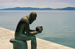 Zadar Spiridon Brusina monument Arkivfoton