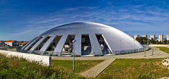 Zadar sport hall cupola panoramic Royalty Free Stock Images