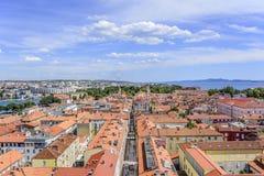 Zadar-Stadt vom Turm dalmatia kroatien lizenzfreie stockfotos