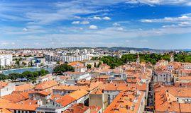 Zadar-Stadt vom Turm dalmatia kroatien lizenzfreies stockbild