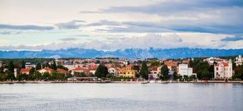 Zadar strandsikt Arkivfoto