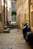Zadar street scene. Street scene in old Croatian town of Zadar Royalty Free Stock Photo