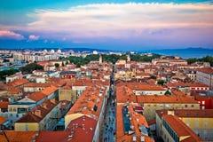 Zadar tak i gammal stadantenn Fotografering för Bildbyråer