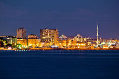 Zadar tourist destination night view Royalty Free Stock Image