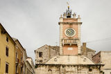 Zadar. Town Hall. The tower of the town hall in Zadar, Croatia Stock Photo