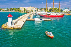 Zadar turquoise sea harbor view Stock Photo