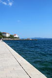 Zadar Waterfront 1. Zadar waterfront of the seawall, facing the Adriatic Sea, Croatia Royalty Free Stock Image