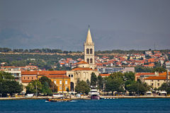 Zadar waterfront view from the sea Stock Photo