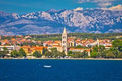 Zadar waterfront view from the sea Stock Photography